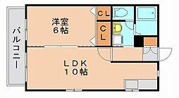 ドミール博多[2階]の間取り