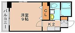 エスステージ箱崎[4階]の間取り