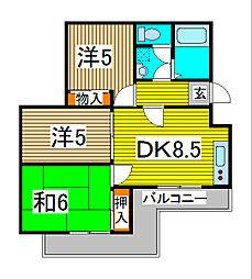 ドルミールII[3階]の間取り