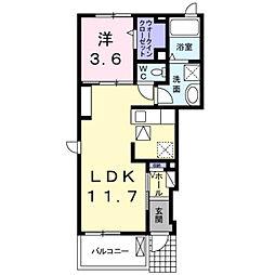 大学町1丁目アパート[1階]の間取り