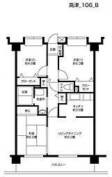 ヴェルジュ武蔵新城[303号室]の間取り