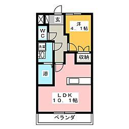 メゾン みずき野[2階]の間取り