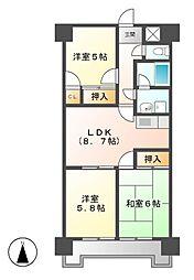 ジュフク松本[3階]の間取り