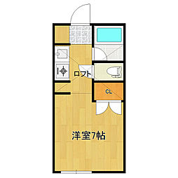 ピュア東中島[101号室]の間取り