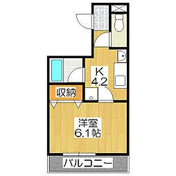 エルデ桃山[108号室]の間取り