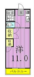コーポ東中新宿[101号室]の間取り