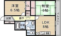 京阪四ノ宮アバンギャルド[101号室号室]の間取り