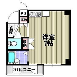ロイヤルクレイン汐ノ宮[1階]の間取り