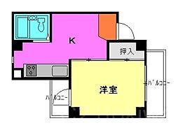 アーバンハイム浜崎[4階]の間取り