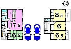 全居室南向き、並列で駐車2台可能です。