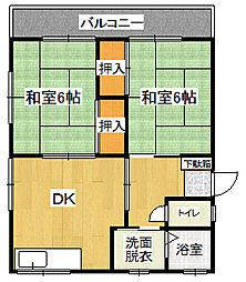 阿久根アパート[202号室]の間取り