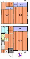 [一戸建] 千葉県野田市岡田 の賃貸【/】の間取り