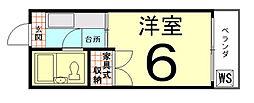 ロイヤルハイツ上賀茂[1階]の間取り