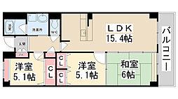 River West花屋敷[3階]の間取り