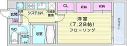 リブリ・エスポワール表柴田 3階1Kの間取り
