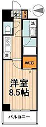 日暮里舎人ライナー 熊野前駅 徒歩14分の賃貸マンション 3階1Kの間取り