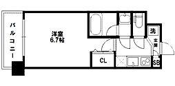 レジディア新大阪[4階]の間取り