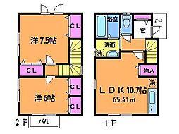 [一戸建] 東京都調布市深大寺南町4丁目 の賃貸【/】の間取り