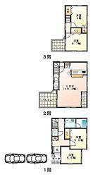[一戸建] 兵庫県西宮市甲子園三番町 の賃貸【/】の間取り