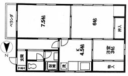 田島ビル[201号室]の間取り