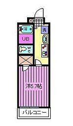 埼玉県さいたま市浦和区常盤1丁目の賃貸アパートの間取り
