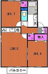 ドミトール眞洲崎III[202号室]の間取り