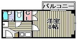 オアシス羽倉崎1[6階]の間取り