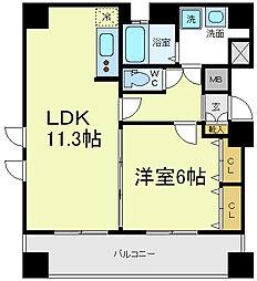 帝塚山クレバービル2[6階]の間取り