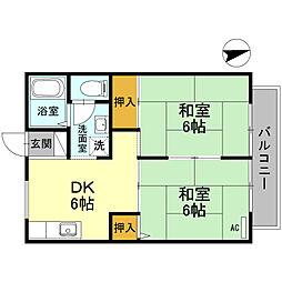 大阪府堺市北区常磐町3丁の賃貸アパートの間取り