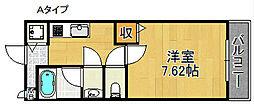 フジパレス日根野[2階]の間取り