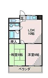 エルム2番館[1階]の間取り