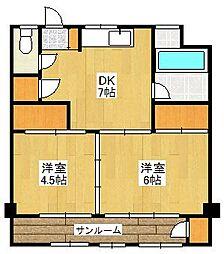 博多駅東三丁目住宅[9階]の間取り