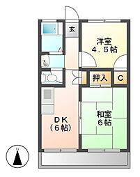 第一千代田コーポ[3階]の間取り