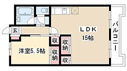 愛知県名古屋市南区元柴田東町3丁目の賃貸マンションの間取り