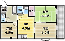 湊川マンション[5階]の間取り