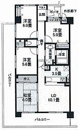 コスモ高槻パークステージ[6階]の間取り