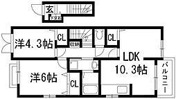 ミルト[2階]の間取り