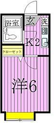 シャンブル綾瀬N[2階]の間取り