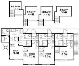 ハーミットクラブハウス山手IV・B棟[1階]の間取り