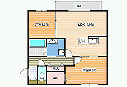 (仮称)D-room沢田2丁目[3階]の間取り