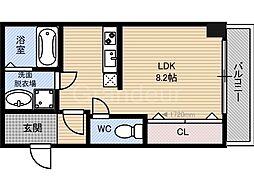 クライス横堤[1階]の間取り