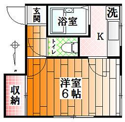 東京都江東区亀戸4丁目の賃貸アパートの間取り