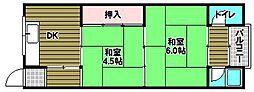 中林マンション[1階]の間取り