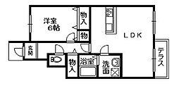 ルミエールマゴジV[1階]の間取り