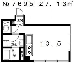 ルミナス北山[1階]の間取り