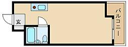 キューブ南武庫之荘3[2階]の間取り