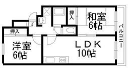 コスモハイツ三木[5D号室]の間取り