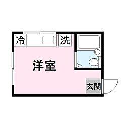 シーハイム[4階]の間取り