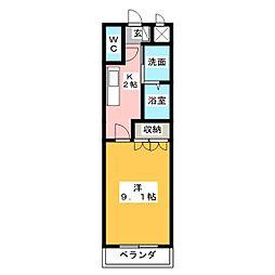エクセレンスハイム仁田駅前[1階]の間取り