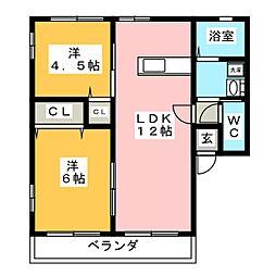 メゾンドルチェ[2階]の間取り